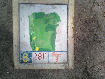 Fallasburg Park, Main course, Hole 8 Hole sign