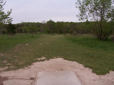 Fallasburg Park, Main course, Hole 1 Long tee pad