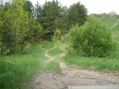 Mason County Park, Beauty, Hole 2 Middle tee pad