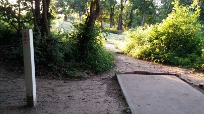 Hunter Park, Main course, Hole 5 Tee pad