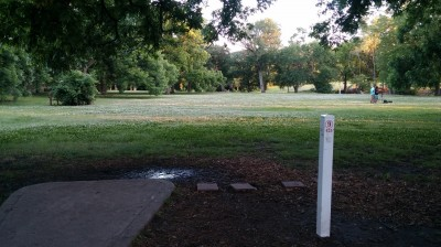 Hunter Park, Main course, Hole 9 Tee pad