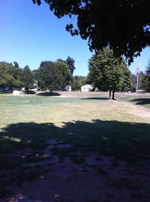 Riverside Park, Main course, Hole 14 Tee pad