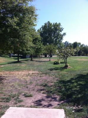 Riverside Park, Main course, Hole 18 Tee pad