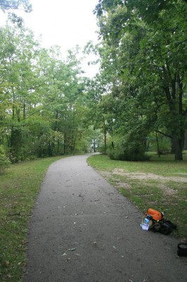 Independence Lake County Park, Picnic Course, Hole 4 Tee pad