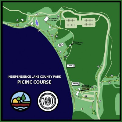 Independence Lake County Park, Picnic Course, Hole 1 Tee pad
