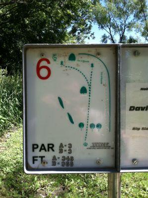 Big Sioux Recreation Area, Main course, Hole 6 Hole sign