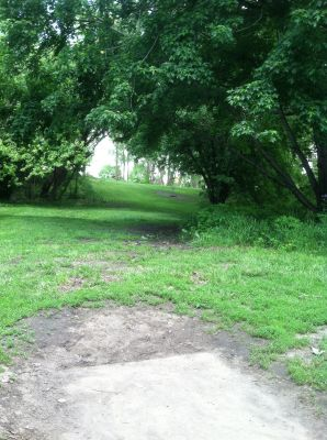 Pioneer Park, Main course, Hole 2 Tee pad