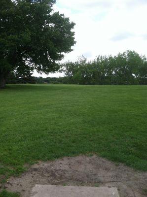 Pioneer Park, Main course, Hole 7 Tee pad