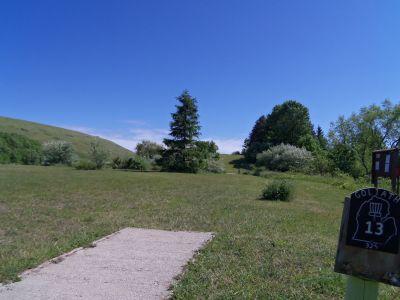 Mason County Park, Goliath, Hole 13 Tee pad