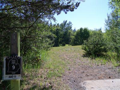 Mason County Park, Goliath, Hole 9 Tee pad