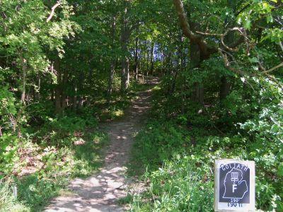 Mason County Park, Goliath, Hole F Tee pad