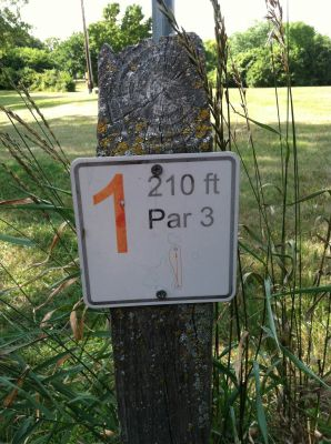Lake Herman, Main course, Hole 1 Hole sign