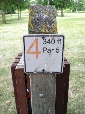 Lake Herman, Main course, Hole 4 Hole sign