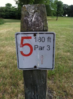 Lake Herman, Main course, Hole 5 Hole sign