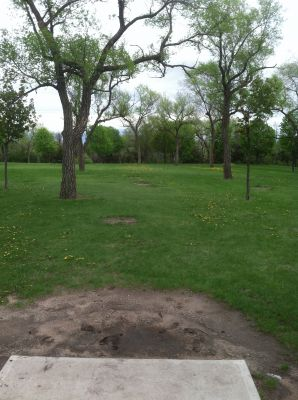 Kiwanis Woodlot Park, Main course, Hole 5 Tee pad