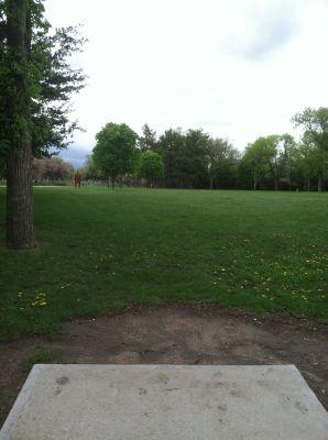 Kiwanis Woodlot Park, Main course, Hole 8 Tee pad