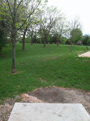 Kiwanis Woodlot Park, Main course, Hole 7 Tee pad