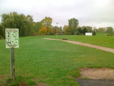 Central Michigan University, Main course, Hole 2 Tee pad