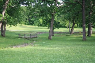 Gunn Park, Main course, Hole 15 Tee pad
