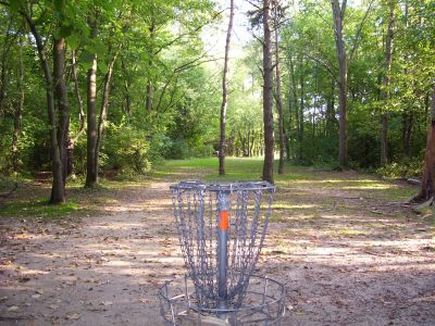 Madeline Bertrand County Park, Main course, Hole 1 Reverse (back up the fairway)