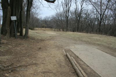 Rosedale Park, Top course, Hole 9 Tee pad