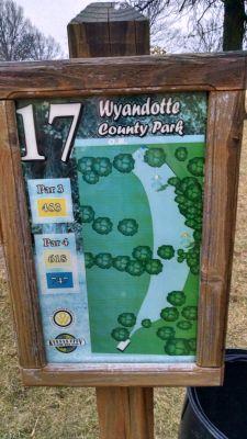 Wyandotte County Park, Main course, Hole 17 Hole sign