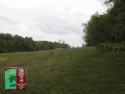 Cass Benton Hills, Main course, Hole 18 Long tee pad