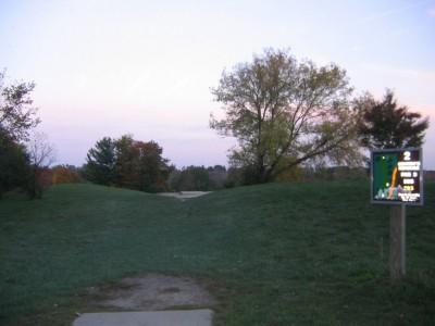 Cass Benton Hills, Main course, Hole 2 Long tee pad