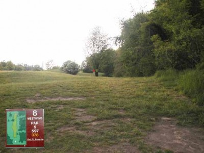 Cass Benton Hills, Main course, Hole 8 Long tee pad