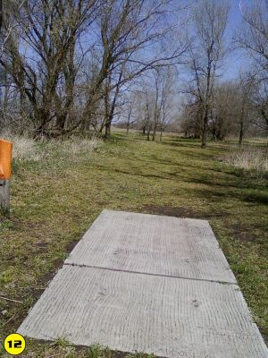 Camp Hawk, Main course, Hole 12 Tee pad