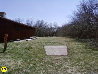 Camp Hawk, Main course, Hole 15 Tee pad