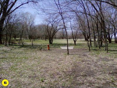 Camp Hawk, Main course, Hole 6 Tee pad