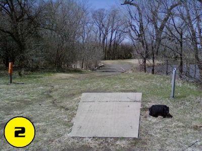 Camp Hawk, Main course, Hole 2 Tee pad
