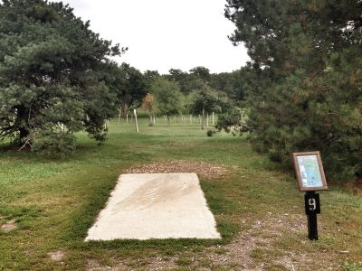 Prairie Center Park, Main course, Hole 9 Tee pad