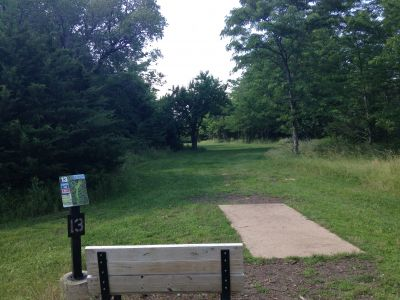 Prairie Center Park, Main course, Hole 13 Tee pad