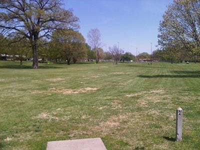 Crestview Park, Main course, Hole 7 Tee pad