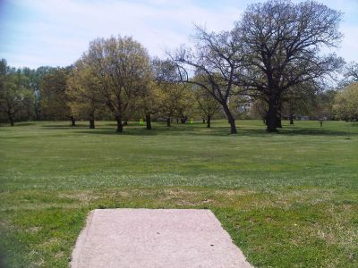 Crestview Park, Main course, Hole 8 Tee pad