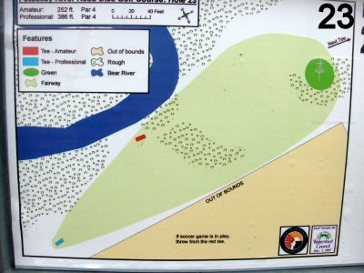 River Road Sports Complex, Main course, Hole 23 Hole sign