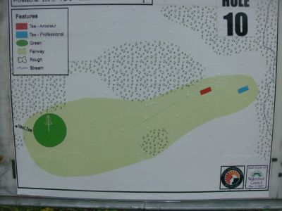 River Road Sports Complex, Main course, Hole 10 Hole sign