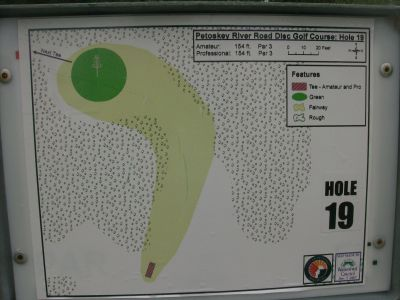 River Road Sports Complex, Main course, Hole 19 Hole sign
