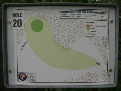 River Road Sports Complex, Main course, Hole 20 Hole sign