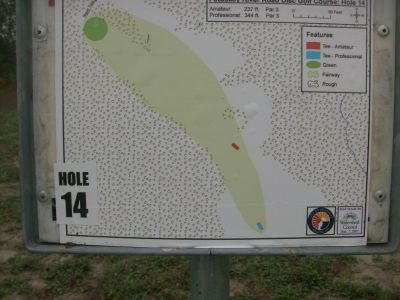 River Road Sports Complex, Main course, Hole 14 Hole sign