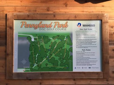 Pennyland Park, Main course, Hole 1 Hole sign