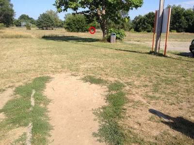 Calvary Disc Golf Course, Main course, Hole 1 Tee pad