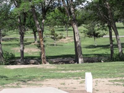 Thompson Park, Main course, Hole 6 Tee pad