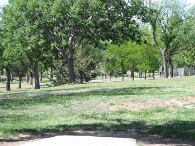 Thompson Park, Main course, Hole 7 Tee pad