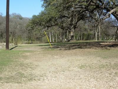 Pease Park, Main course, Hole 4 Tee pad