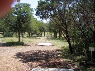 Slaughter Creek Metro Park (Circle C), Main course, Hole 13 Long tee pad