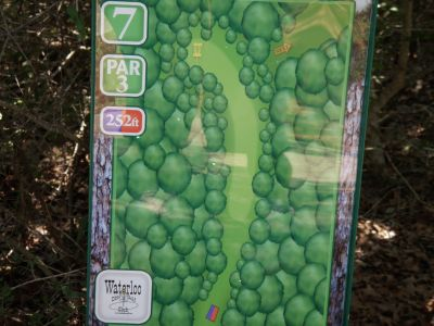 Slaughter Creek Metro Park (Circle C), Main course, Hole 7 Tee pad