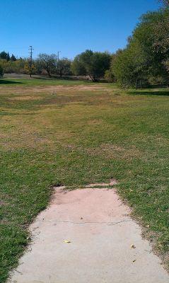 Birdwell Park, Main course, Hole 7 Tee pad